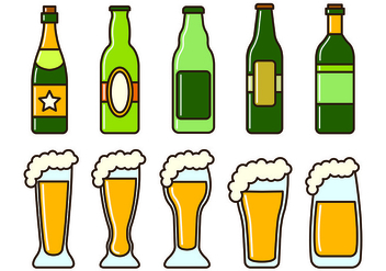 Set Of Cerveja Icons - vector #437641 gratis