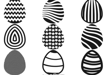 Easter Eggs Flat Icons Vector - Free vector #437681