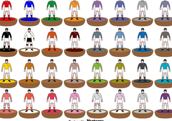 Subbuteo Players icons - Vector - Kostenloses vector #437691