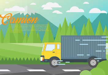 Camion Vector Background - Kostenloses vector #437701