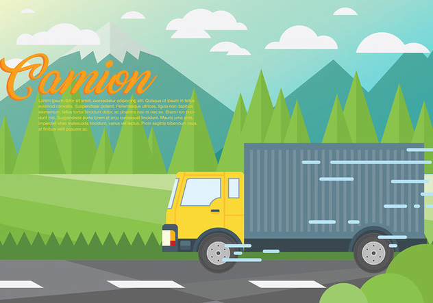 Camion Vector Background - Free vector #437701