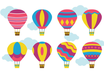Bright Hot Air Balloon Vector - бесплатный vector #437781