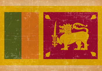 Grunge Flag of Sri Lanka - бесплатный vector #437801