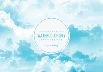 Watercolor Sky Background - Kostenloses vector #437811