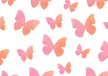 Watercolour Butterfly Seamless Pattern - Kostenloses vector #437831