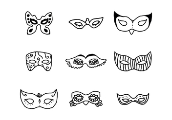 Set Of Masks - Kostenloses vector #437871