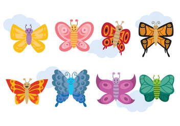 Cartoon Mariposa Vector - Free vector #437891