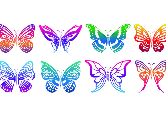 Set Of Mariposa Icons - бесплатный vector #437911