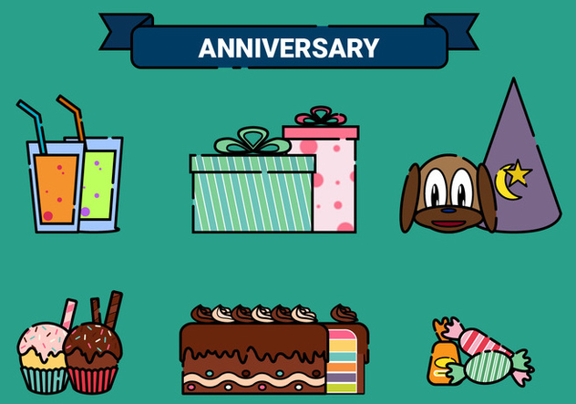 Anniversary Vector Elements - Free vector #437921