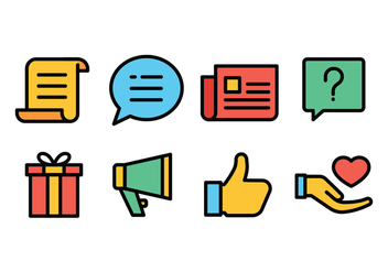 Event Icon Set - Free vector #437951