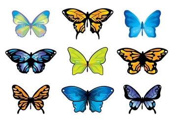 Mariposa Butterfly Vector Set - Kostenloses vector #437981