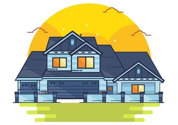 Vector Mansion House - Free vector #438011