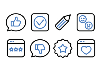 Testimonials and Feedback Icon Pack - vector #438031 gratis