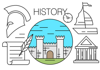 Free Linear Icons About History - vector #438081 gratis