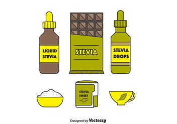 Stevia Product Vector Set - Free vector #438141