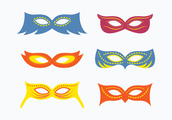 Fun Masquerade Mask Collection - бесплатный vector #438161