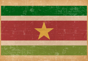 Grunge Flag of Suriname - бесплатный vector #438171