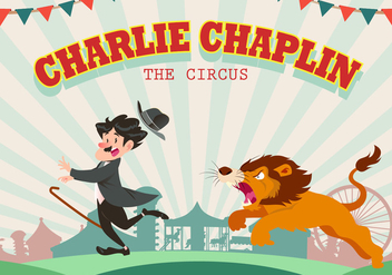 Charlie Chaplin At The Circus Vector - Free vector #438221