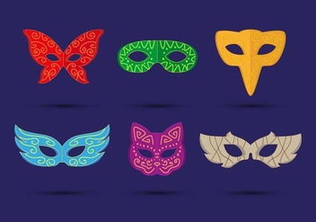Masquerade Ball Mask Vector - бесплатный vector #438261