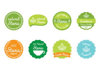 Stevia Label - Free vector #438341