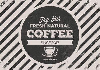 Retro Style Promotional Coffee Background - vector gratuit #438361