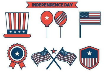Independence Day Icon Vector Set - Free vector #438371