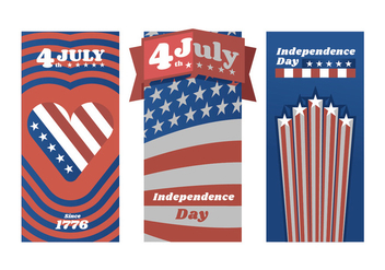Red White and Blue Independence Day Poster Vectors - Free vector #438391