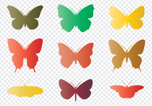 Butterflies Silhouettes - Free vector #438401