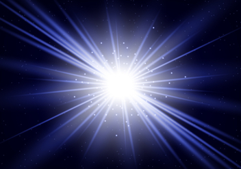 Blue Star Burst - vector #438431 gratis