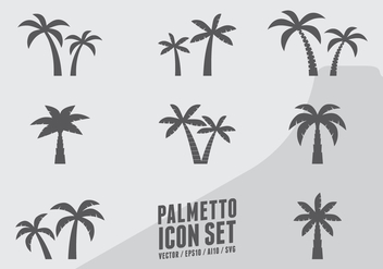 Coconut Tree Icons - Free vector #438441