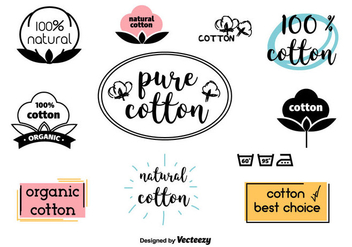 Cotton Vector Labels - vector gratuit #438461