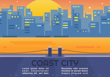 Coast City Vector - vector #438511 gratis