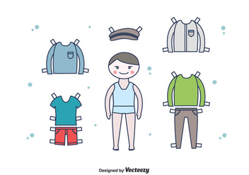 Free Paper Doll Boy Vector - бесплатный vector #438531