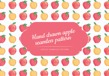 Vector Hand Drawn Apples Seamless Pattern - Free vector #438541