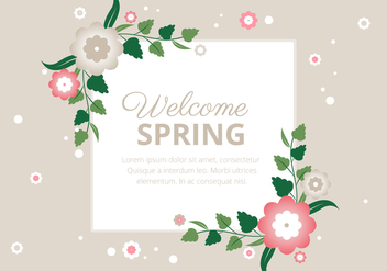 Free Spring Season Vector Background - бесплатный vector #438551