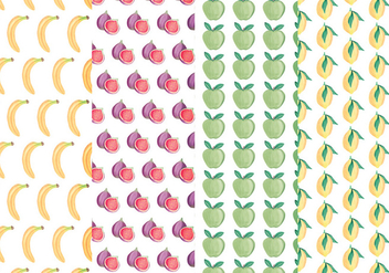 Vector Colourful Fruits Patterns - Free vector #438561