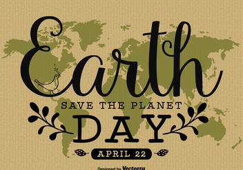 Earth Day Hand Written Poster Design - vector #438571 gratis