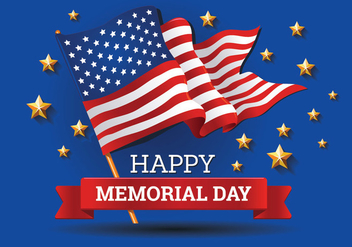 Memorial Day background Template Vector - бесплатный vector #438661