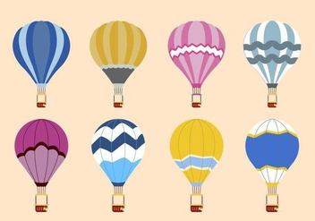 Flat Hot Air Balloon Vectors - Free vector #438671