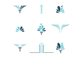 Set Of Water Jet Icons - vector gratuit #438681