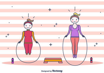 Skipping Rope Vector Background - Free vector #438691