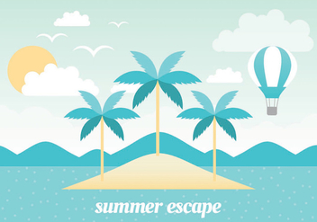 Free Summer Vacation Vector Landscape - Free vector #438751