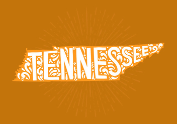 State of Tennessee Lettering - Kostenloses vector #438781