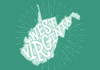 West Virginia State Lettering - vector gratuit #438791
