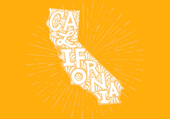 California state lettering - Kostenloses vector #438821