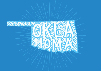 Oklahoma state lettering - бесплатный vector #438841