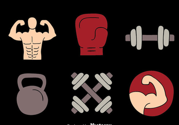 Fitness Element Vectors - Free vector #439291
