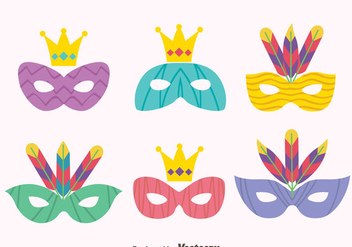 Great Masquerade Mask Vectors - vector #439321 gratis