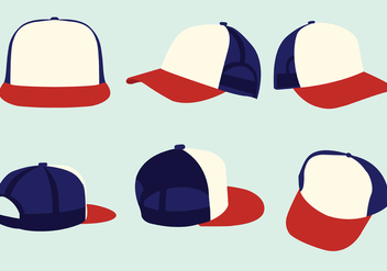 Trucker Hat Vector Pack - бесплатный vector #439341