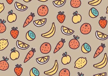 Fruits & Vegetables Pattern - vector #439351 gratis